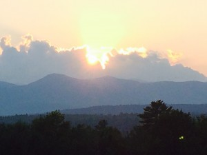 Sunset views of the White Mountains
