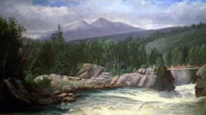 Androscoggin Gorge at Berlin Falls, N.H., circa 1870; unsigned oil on canvas (private collection) exhibited at the Bethel Historic Society